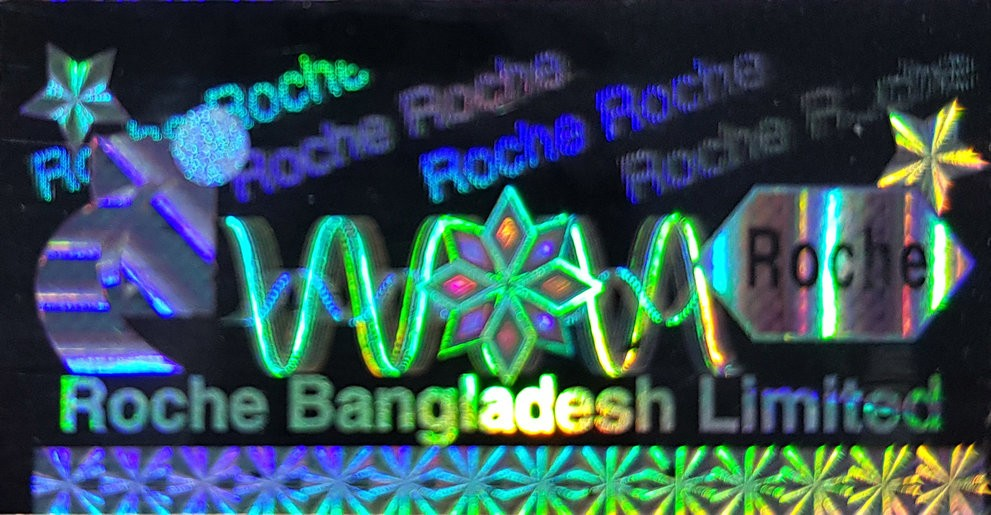 Roche Hologram Sticker